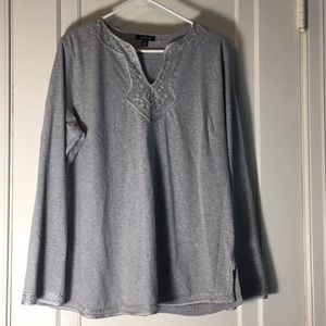 Lands End Long Sleeve Gray Top Size 18-20 XL